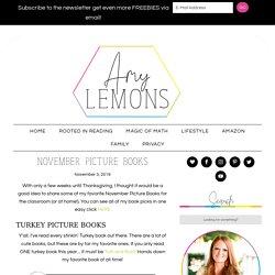 November Picture Books - Amy Lemons