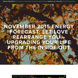 November 2015 Energy Forecast: Let Love Rearrange You – Upgrading Your Life From the Inside Out — Lee Harris Energy