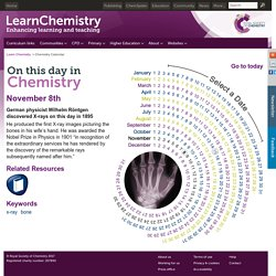 November 8 - On This Day in Chemistry