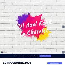 CDI NOVEMBRE 2020 by maud.rene on Genially