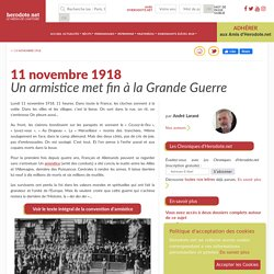 11 novembre 1918 - Un armistice met fin à la Grande Guerre - Herodote.net
