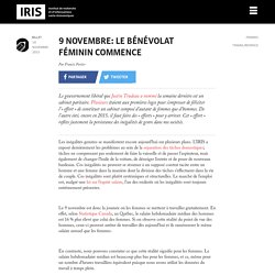 9 novembre: le bénévolat féminin commence