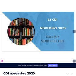 CDI novembre 2020 by cdi.clgbechet on Genially