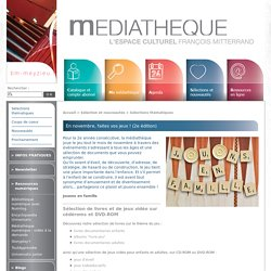 En novembre, faites vos jeux ! (2e édition) - Médiathèque de Meyzieu