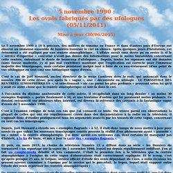 5 novembre 1990: Les ovnis fabriqués par des ufologues