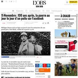 11-Novembre : 100 ans après, la guerre au jour le jour d'un poilu sur Facebook