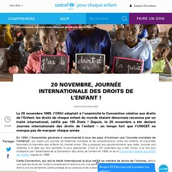 20 novembre, Journée internationale des droits de l'enfant !