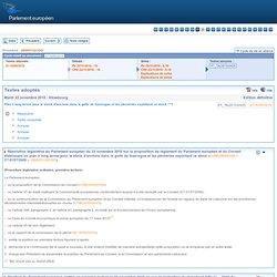 PARLEMENT EUROPEEN - 2010 - Plan à long terme pour le stock d'anchois dans le golfe de Gascogne et les pêcheries exploitant ce s