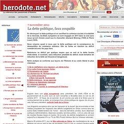 7 novembre 2011 : Crise européenne : la dette publique, faux coupable