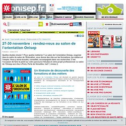 Salon de l'orientation Onisep