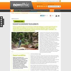 Novethic Ecocert se diversifie tous azimuts - Pratiques commerciales