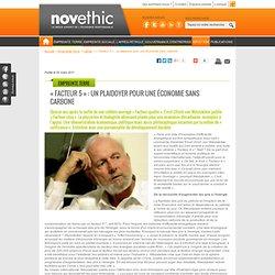 NOVETHIC - « Facteur 5 » : un plaidoyer pour une économie sans carbone