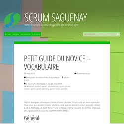 Petit guide du novice – Vocabulaire – Scrum Saguenay