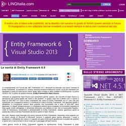 Le novità di Entity Framework 6.0