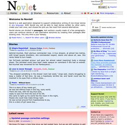 Novlet - Collaborative non linear story writing