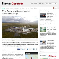 New Arctic port takes shape at Novoportovskoye