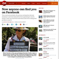 Now anyone can find you on Facebook