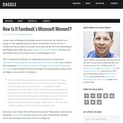Now Is It Facebook's Microsoft Moment?