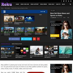 Now Get More News and Sports on Roku