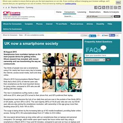 UK now a smartphone society
