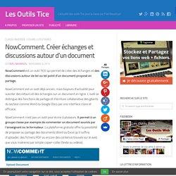 NowComment. Créer échanges et discussions autour d'un document