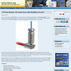 Prusa Nozzle: All metal food safe RepRap hot-end