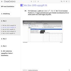 NP med GeoGebra - GeoGebraBook