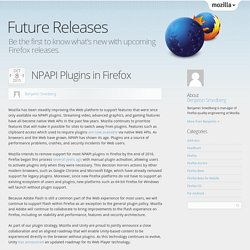 NPAPI Plugins in Firefox
