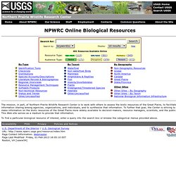 NPWRC :: Biological Resources