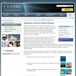 Radiation and Its Health Effects