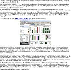 Solar Advisor Model (SAM)