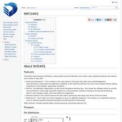 NRF24l01 - ElectroDragon