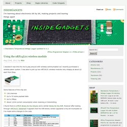 Using the nRF24L01 wireless module « insideGadgets