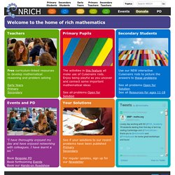 Mathematics Enrichment for Students - nrich.maths.org MA