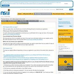 NS&I - Premium bonds