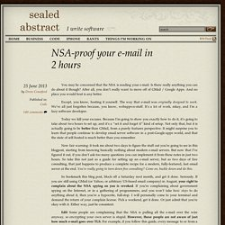 NSA-proof your e-mail in 2 hours
