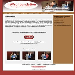 nsoro foundation - Scholarships