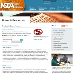 NSTA: Freebies for Science Teachers