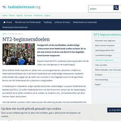 NT2-beginnersdoelen