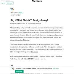 LM, NTLM, Net-NTLMv2, oh my! – Péter Gombos