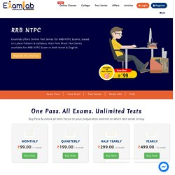 RRB NTPC 2021 Online Mock Test Series