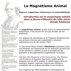 ntroduction sur le magnetisme animal