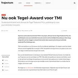 NEW URL beacuse of site upgrade - Nu ook Tegel-Award voor TMI – Trajectum
