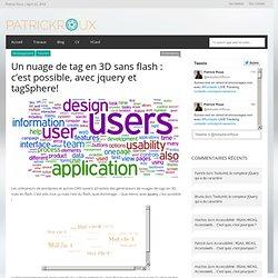 Un nuage de Tag 3D avec Jquery et tagShpere