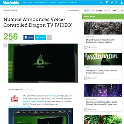 Nuance Announces Voice-Controlled Dragon TV [VIDEO]