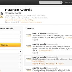 nuance words (nuancewords) on Twitter