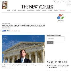 Elonis v. United States and the Nuances of Threats on Facebook