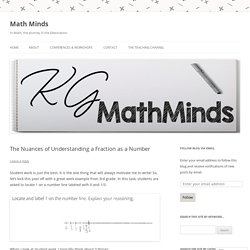 The Nuances of Understanding a Fraction as a Number