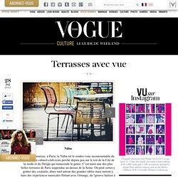 Les plus belles terrasses de Paris avec vue