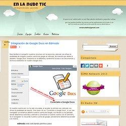 Integración de Google Docs en Edmodo